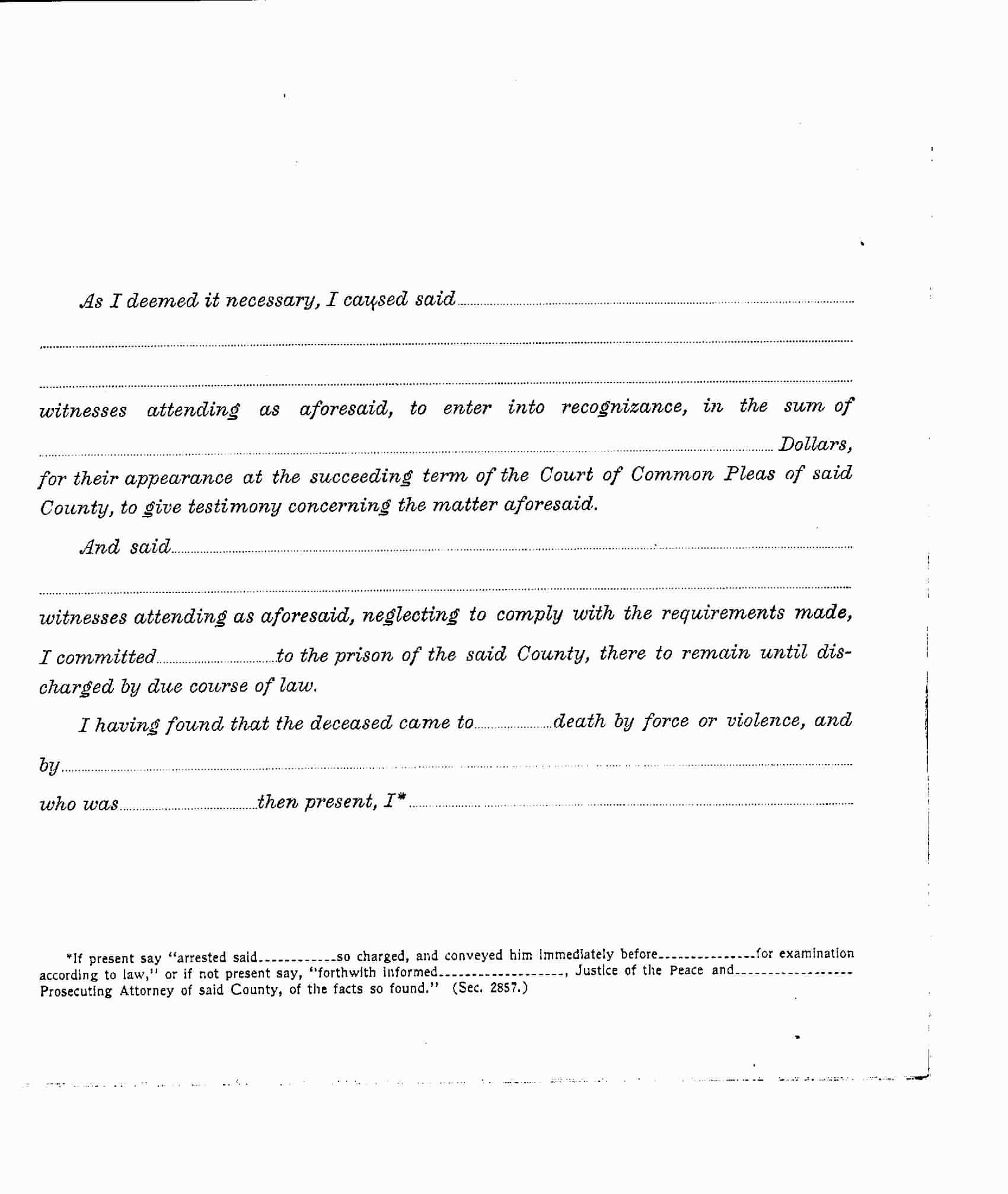 Page 3 of the Coroner's report