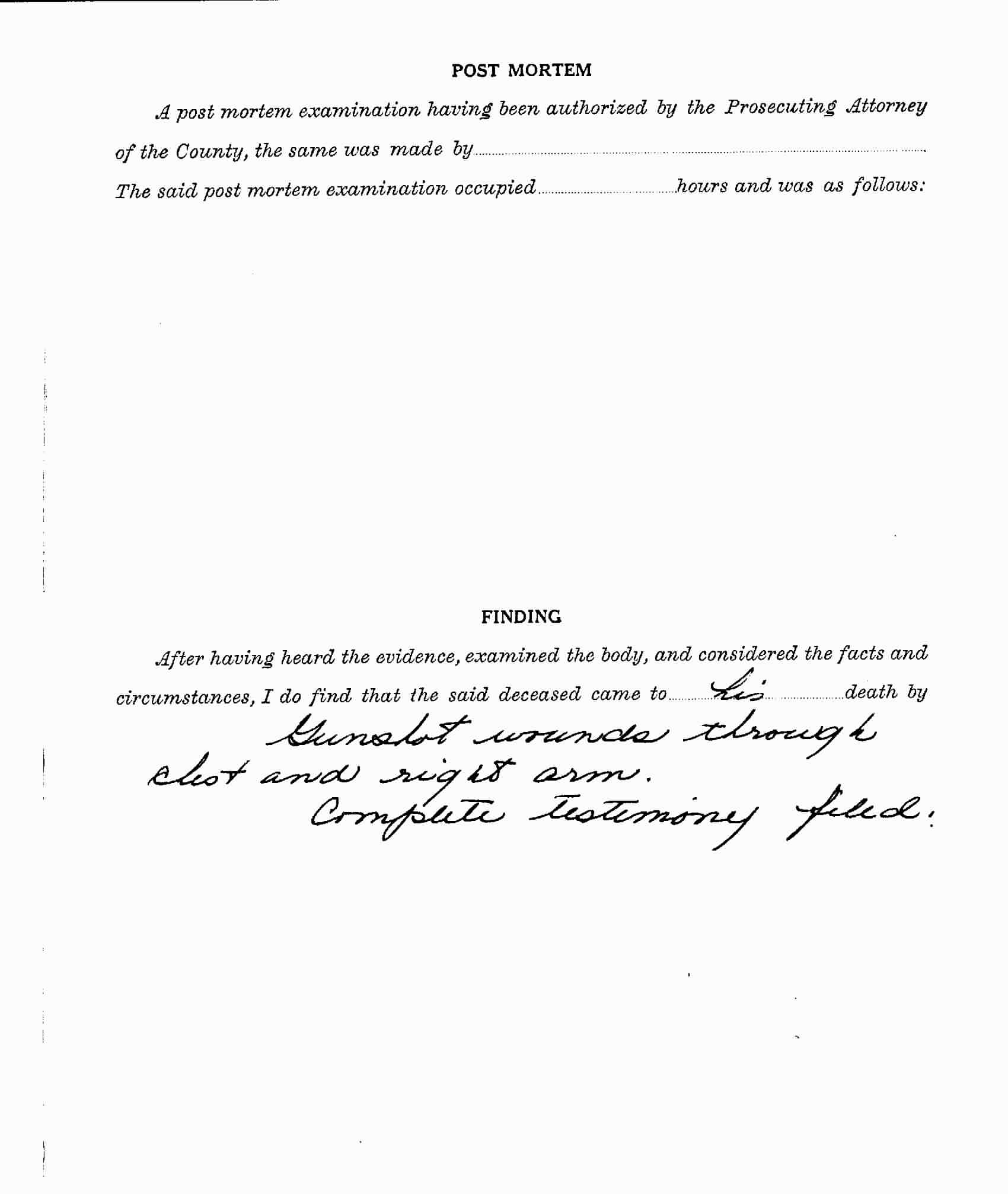Page 4 of the Coroner's report